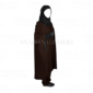 Dark_brown AF Bahiya Khimar Two Piece with trouser and hoody